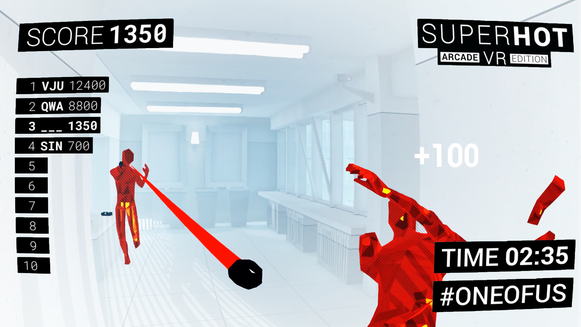 SUPERHOT VR: Arcade Edition