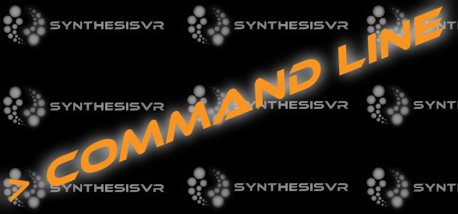 SynthesisVR Command Line Image